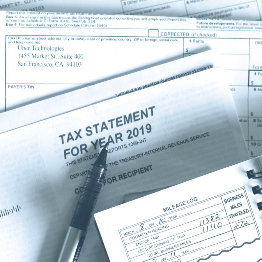 Image of tax statement to illustrate business tax services.